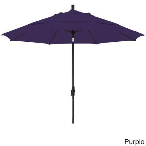 North Bend 11-foot Crank Open Auto-tilt Black Umbrella by Havenside Home