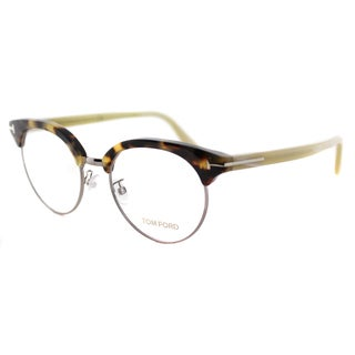Tom Ford FT 5343 052 Dark Havana Plastic 51-millimeter Round Eyeglasses