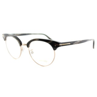 Tom Ford FT 5343 063 Black Horn Plastic 49-mm Round Eyeglasses