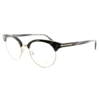 Tom Ford FT 5343 063 Black Horn Plastic 49-mm Round Eyeglasses
