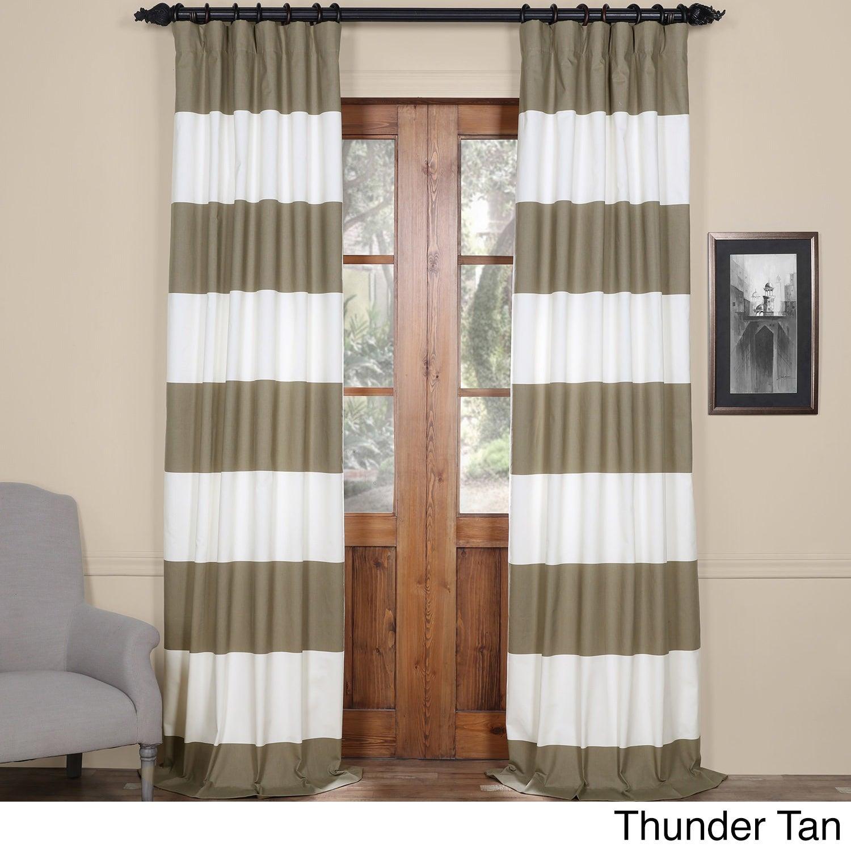 Exclusive Fabrics Cabana Cotton Horizontal Stripe 84-inch...
