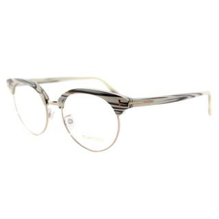Tom Ford Ivory Cleam Plastic Round Eyeglasses