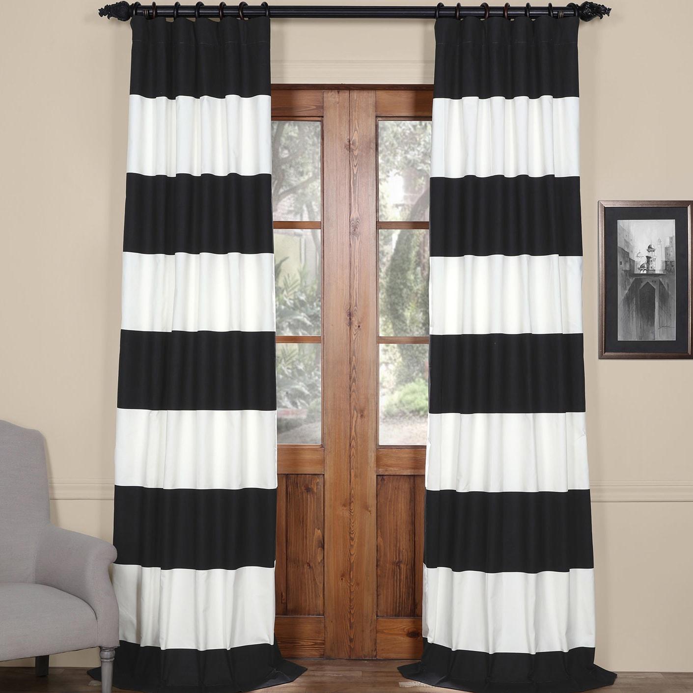 Exclusive Fabrics Cabana Cotton Horizontal Stripe 96-inch...