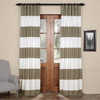 Exclusive Fabrics Cabana Cotton Horizontal Stripe 120-inch Curtain Panel - 50 x 120