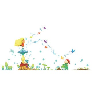 Homesource Wall Decor Little World Breath of Fresh Air 111-inch x 56-inch Wall Decal