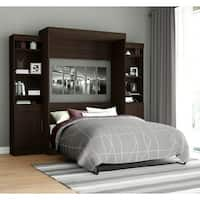 Edge by Bestar Full Wall Bed with Two 21-inch Storage Units and Doors