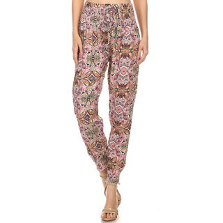 MOA Collection Women's Rayon Paisley Jogger Pants