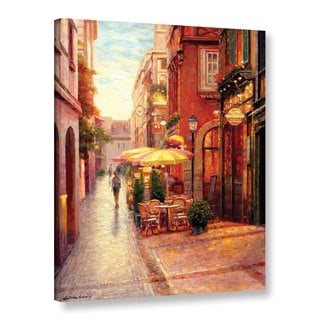 Haixia Liu's 'Evening in Colmar ' Gallery Wrapped Canvas