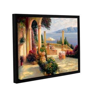 Haixia Liu's 'Seaside Villa ' Gallery Wrapped Floater-framed Canvas