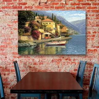 Haixia Liu's 'Lake Como Blossom' Gallery Wrapped Canvas