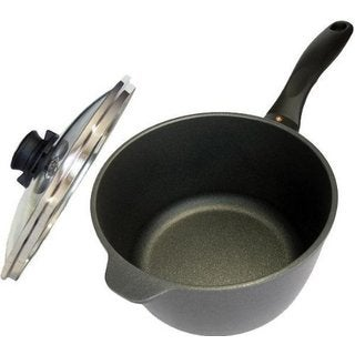 Swiss Diamond Black Cast Aluminum 3.2-quart Nonstick Saucepan With Lid