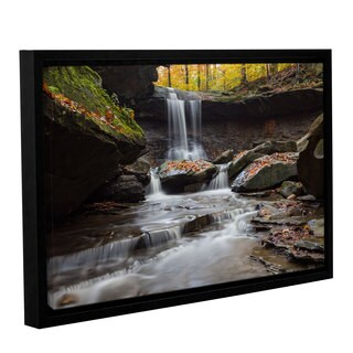 Greg Murray's 'Blue Hen Falls 1' Gallery Wrapped Floater-framed Canvas