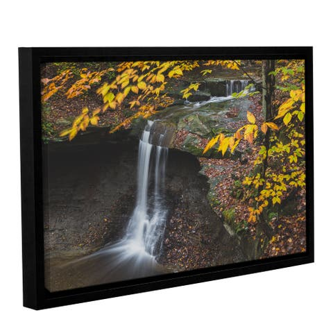 Greg Murray's 'Blue Hen Falls 3' Gallery Wrapped Floater-framed Canvas