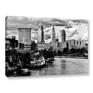 Greg Murray's 'Cleveland Skyline BW' Gallery Wrapped Canvas