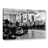 Greg Murray's 'Cleveland Skyline BW' Gallery Wrapped Canvas - Multi