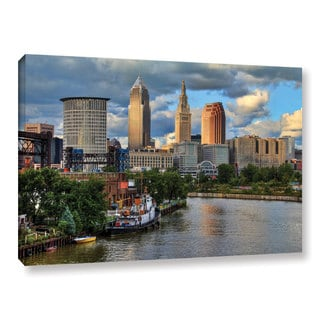 Greg Murray's 'Cleveland Skyline Color' Gallery Wrapped Canvas