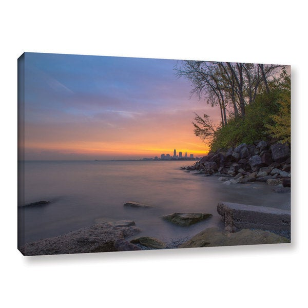 Greg Murray's 'Cleveland Sunrise' Gallery Wrapped Canvas