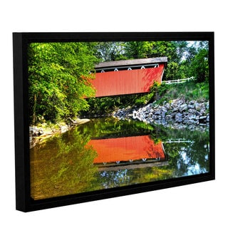 Greg Murray's 'Covered Bridge Cuyahoga Valley' Gallery Wrapped Floater-framed Canvas