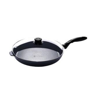 Swiss Diamond Black Aluminium 12.5-inch Nonstick Fry Pan with Lid