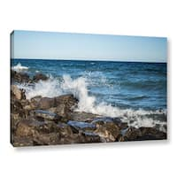 Greg Murray's 'Lake Michigan Waves' Gallery Wrapped Canvas - Multi