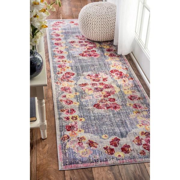 nuLOOM Vintage Floral Multi Runner Rug (2'6 x 8')