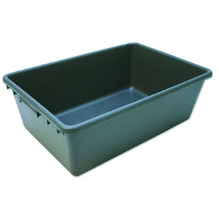 Petmate Grey Propylene 28-inch x 19-inch x 9.5-inch Tote Storage Container - 28 x 19 x 9.5