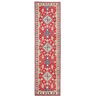 Herat Oriental Afghan Hand-knotted Kazak Wool Runner (2'8 x 9'7)