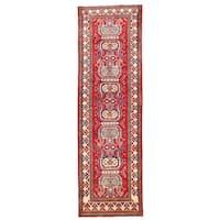 Handmade Herat Oriental Afghan Kazak Wool Runner  - 2'8 x 9' (Afghanistan)