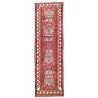 Herat Oriental Afghan Hand-knotted Kazak Wool Runner (2'8 x 9') - 2'8 x 9'
