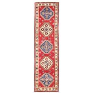 Herat Oriental Afghan Hand-knotted Kazak Wool Runner (2'7 x 9'10)
