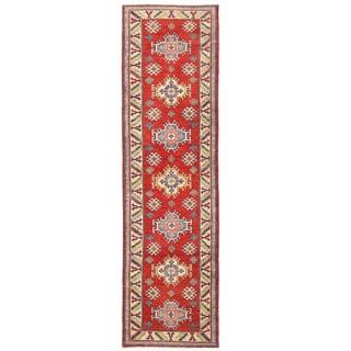 Herat Oriental Afghan Hand-knotted Kazak Wool Runner (2'9 x 9'9)