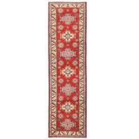 Handmade Herat Oriental Afghan Kazak Wool Runner (Afghanistan) - 2' x 9'