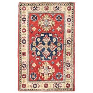 Herat Oriental Afghan Hand-knotted Kazak Wool Rug (2'8 x 4'3)