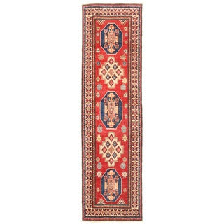 Herat Oriental Afghan Hand-knotted Kazak Wool Runner (2'8 x 9'5)