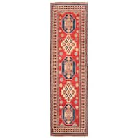Handmade Herat Oriental Afghan Kazak Wool Runner  - 2'8 x 9'5 (Afghanistan)