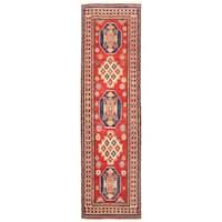 Herat Oriental Afghan Hand-knotted Kazak Wool Runner (2'8 x 9'5) - 2'8 x 9'5