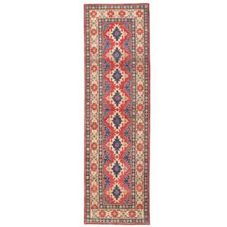 Herat Oriental Afghan Hand-knotted Kazak Wool Runner (2'9 x 9'7)
