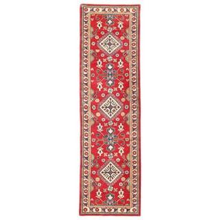 Herat Oriental Afghan Hand-knotted Kazak Wool Runner (2'8 x 9'8)