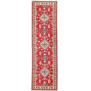 Herat Oriental Afghan Hand-knotted Kazak Wool Runner (3'1 x 10'1)
