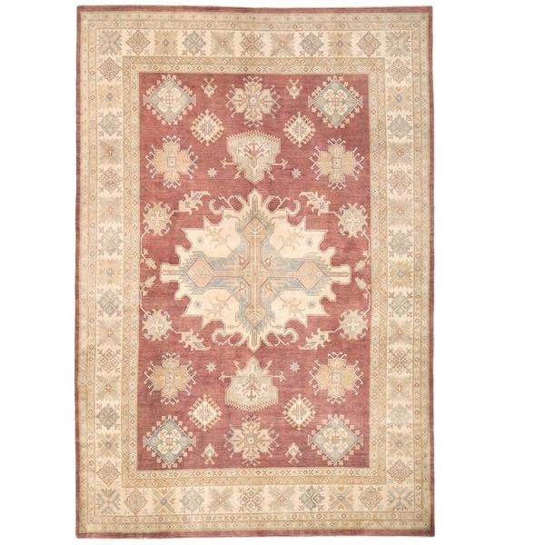 Handmade One-of-a-Kind Kazak Wool Rug (Afghanistan) - 9'11 x 14'2