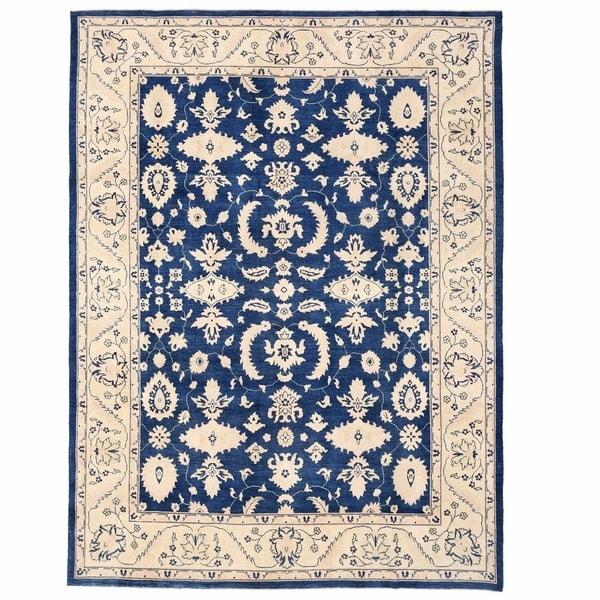 Handmade Herat Oriental Afghan Oushak Wool Rug - 8'11 x 12' (Afghanistan)