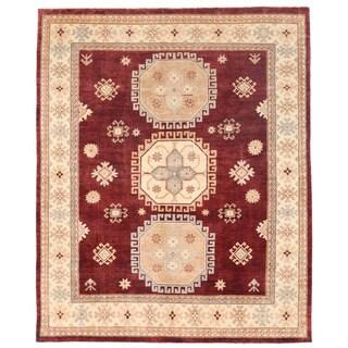 Herat Oriental Afghan Hand-knotted Kazak Wool Rug (7'11 x 9'6)