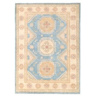 Herat Oriental Afghan Hand-knotted Kazak Wool Rug (4'10 x 6'10)