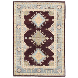 Herat Oriental Afghan Hand-knotted Kazak Wool Rug (4' x 5'10)