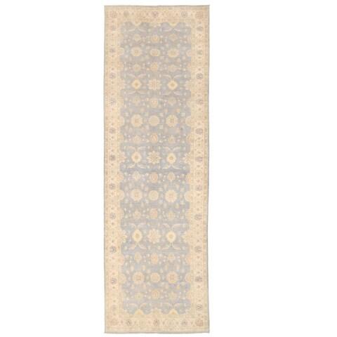 Handmade Herat Oriental Afghan Oushak Wool Runner - 5' x 16'5 (Afghanistan)