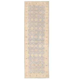 Herat Oriental Afghan Hand-knotted Oushak Wool Runner (5' x 16'5) - 5' x 16'5