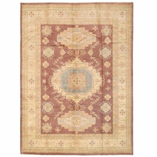 Herat Oriental Afghan Hand-knotted Kazak Wool Rug (8'10 x 12'1)