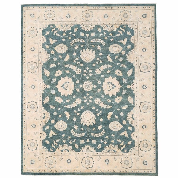 Herat Oriental Afghan Hand-knotted Oushak Wool Rug (8'10 x 11'2)