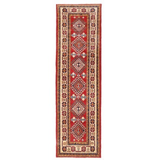 Herat Oriental Afghan Hand-knotted Kazak Wool Runner (2'8 x 9'2)