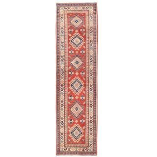 Herat Oriental Afghan Hand-knotted Kazak Wool Runner (2'10 x 9'3)